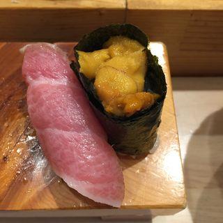 大トロ&雲丹(いろは寿司)