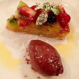 フルーツのタルト チョコレートのグラス(Le REMOIS(ル・レモア))
