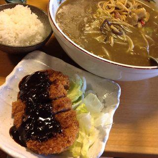 カレーちゃんぽん&味噌かつ(龍圓 (リュウエン))