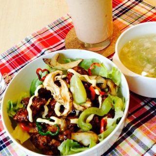 チキン南蛮と野菜丼(丘の上 C-flat (シー フラット))