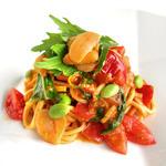 雲丹とトマトのカッペリーニ