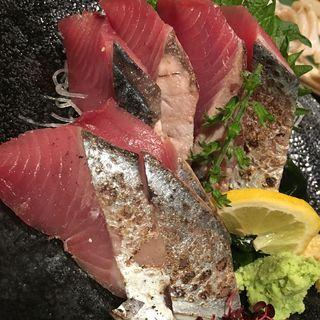 ヒラソウダガツオ刺し(四十八漁場 恵比寿店)