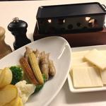 ソーセージと野菜の鉄板焼き