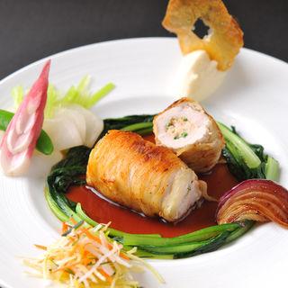 鶏肉の包み焼き 温野菜(tetote)