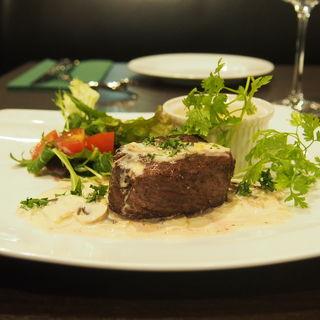 バベットステーキ ブルーチーズソース(シェ マルセル (Chez Marcel))