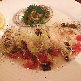 冷製鮑ネギソース(流川洋食酒場ぶると味 )