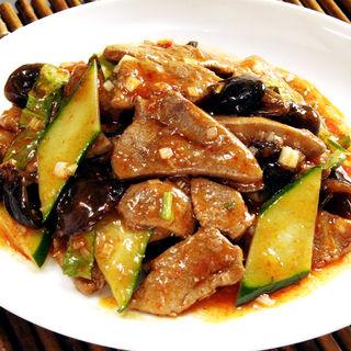 牛肉と茄子の炒め物( 四川料理 謝朋酒楼)