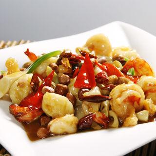 海老とナッツの炒め物( 四川料理 謝朋酒楼)