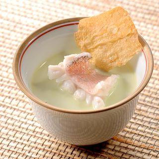真鯛の冷製スープ(杉もと (すぎもと))