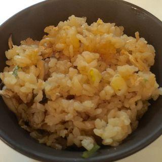 名物蕎麦湯炊かやくご飯(パンとコーヒーとひらりんと )