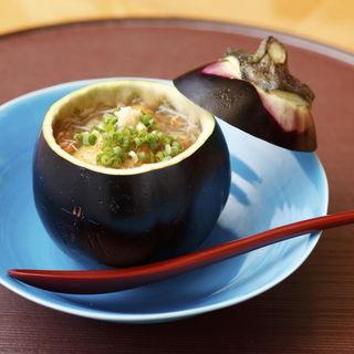 カニあんかけ 茄子椀(日本料理 双寿)
