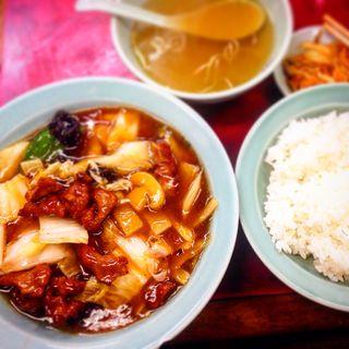 肉うま煮定食(みん亭 (珉亭))