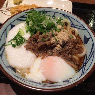 肉とろ玉うどん(丸亀製麺 河原町三条店 )