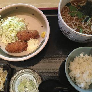 牡蠣フライと蕎麦定食(千年 (センネン))