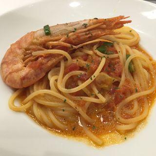 赤海老と長ネギのトマトクリームパスタ(ヴォーノ・イタリア 日立店)