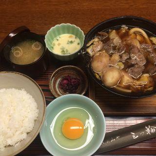 牛鍋定食(さんのみや 三つ輪 (みつわ))