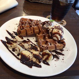 チョコバナナ(エール・エル ワッフル カフェ グランルーフ店 (R.L WAFFLE CAFE))