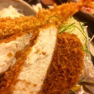 ぶりカツとエビヒレ膳(かつ徳 豊平店)
