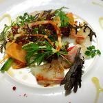 本日の鮮魚のカルパッチョ 柚子胡椒風味ドレッシング