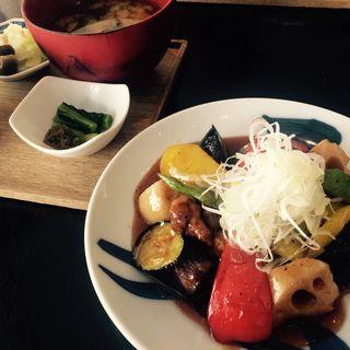彩り野菜のすぶた(酢重ダイニング 渋谷ヒカリエ店 )