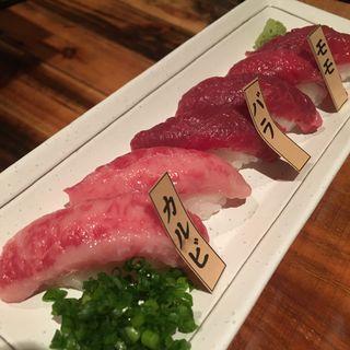 桜肉の握り寿司(6貫)(馬喰ろう恵比寿店)