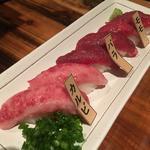 桜肉の握り寿司(6貫)