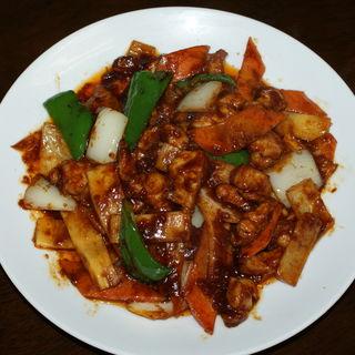豚肉と野菜の味噌焼き(中国台風 (チャイタイ))