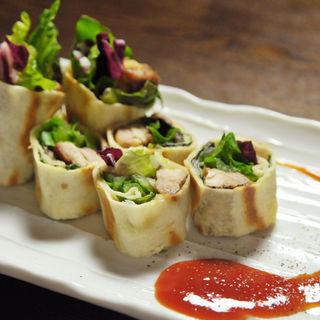 鶏肉と野菜の春巻き(鉄板焼き&個室 TETSUO 麻布十番)