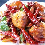 鶏肉と唐辛子の炒め物