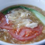 卵とトマトのスープ