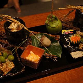 前菜の盛り合わせ(日本料理 TAKEMOTO (タケモト))