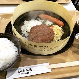 ハンバーグランチ(三田屋本店 やすらぎの郷 本店 (サンダヤホンテン ヤスラギノサト))