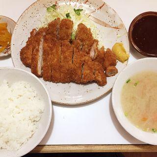Wロースカツ定食(重廣 )