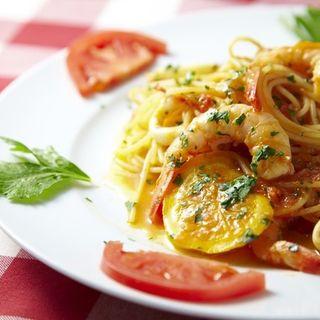 海老のトマトクリームソースのスパゲッティ(トラットリア ガルガ)