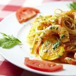 海老のトマトクリームソースのスパゲッティ