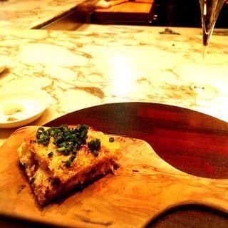 トリュフの香るマスカルポーネチーズのトラピッツィーノ(ヴェンタリオ (VENTAGLIO))