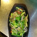 鶏肉とブロッコリーの炒め物