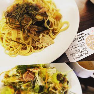 豚肉とあげナスの和風パスタ(堂島グラッチェ 南森町店 )