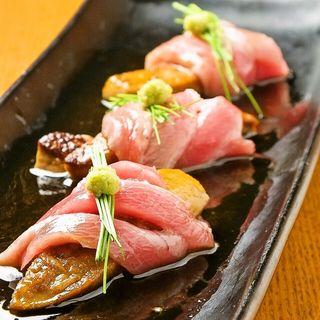 牡丹鱧と本マグロのお造り(魚竹 渋谷桜丘町 )