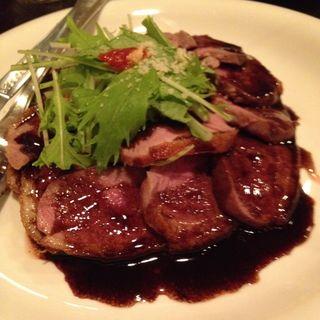 牛ロースのステーキ 和風シャリアピンソース(本田飲食堂 (ホンダインショクドウ))