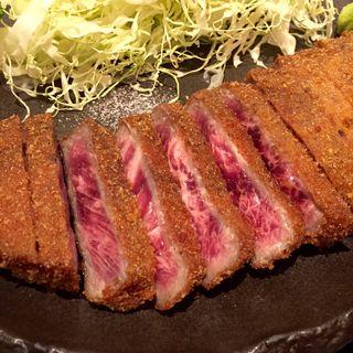 牛かつ麦めしとろろセット(牛かつ もと村 浜松町店 )