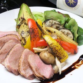 炙り鴨とグリル野菜のサラダ仕立て~バルサミコソース~(ラフィーネ )