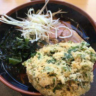 鴨南蛮に春菊天(名代 富士そば 三光町店 (ふじそば))
