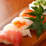 五種の握り寿司