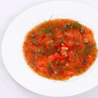 大トロサーモンのカルパッチョ~香味トマトソース~(Solare (-ソラーレ-))