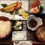 焼き魚定食(ちゃんこに変更)