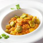 枝豆とニョッキ トマトソース(リストランテ ヴィオレッタ)