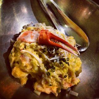 ずわい蟹とふわふわ玉子の炒飯(クーカイ )