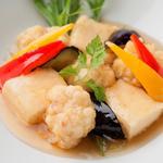 鱈の白子と豆腐の揚げ出し