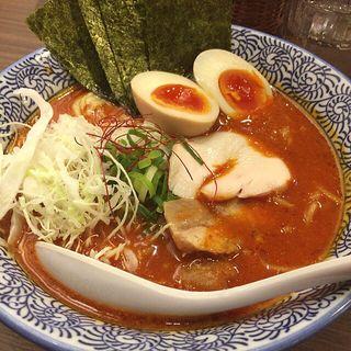 濃厚辛味噌鶏そば 味玉&海苔トッピング(たけいち )